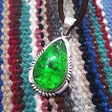 NAVAJO 『GREEN AMBER(緑琥珀) NECKLACE』
