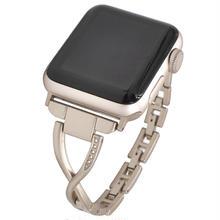 [NW581] ★Apple Watch belt 38mm/42mm ★ アップルウォッチ 替えベルト バンド ループ デザイン ストーン メタル 大人