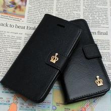 【KN004】★ 即納 有 ★ ゴールド クラウン ポイント 付 iPhone5c 手帳型 おまけ付 2種 スマホ カバー カード ブラック アイフォン