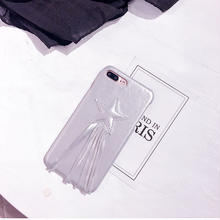 [NW424]  ★ iPhone 6 / 6s / 6Plus / 6sPlus / 7 / 7Plus / 8 / 8Plus ★ シェルカバー 星 スター フリンジ メタル シルバー