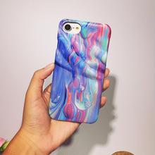 [NW291]★ iPhone 6 / 6s / 6Plus / 6sPlus / 7 / 7Plus ★ シェルカバー ケース 3D だまし絵 カラフル 絵の具 iPhone ケース