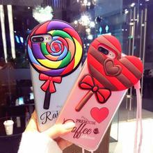 [MD036] ★ iPhone 6 / 6s / 6Plus / 6sPlus / 7 / 7Plus / 8 / 8Plus ★ シェルカバー ケース キャンディー 可愛い 3D SNS映え