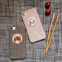 [MD296] ★ iPhone 6 / 6s / 6Plus / 6sPlus / 7 / 7Plus / 8 / 8Plus / X ★ シェルカバー ケース ネコ ウサギ ツイード 可愛い