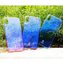 [NW524] ★ iPhone 6 / 6s / 6Plus / 6sPlus / 7 / 7Plus  / 8 / 8Plus / X ★ シェルカバー ケース シンプル グラデーション 偏光