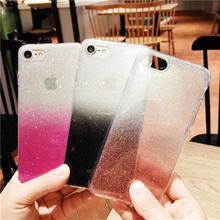 [MD085] ★ iPhone 6 / 6s / 6Plus / 6sPlus / 7 / 7Plus / 8 / 8Plus / X ★  シェルカバー ケース ラメ グラデーション きらきら