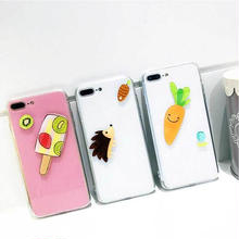 [MD214] ★ iPhone 6 / 6s / 6Plus / 6sPlus / 7 / 7Plus / 8 / 8Plus ★ シェルカバー ケース フルーツ アニマル 可愛い ポップ