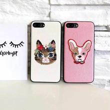 [MD068] ★ iPhone 6 / 6s / 6Plus / 6sPlus / 7 / 7Plus / 8 / 8Plus / X ★ シェルカバー ケース キャット ドッグ 可愛い 大人