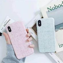 [MD093] ★ iPhone 6 / 6s / 6Plus / 6sPlus / 7 / 7Plus / 8 / 8Plus / X ★ シェルカバー ケース キャンバス パステル シンプル