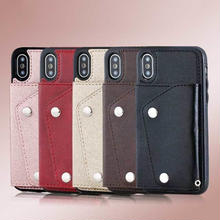 [MD387] ★ iPhone 6 / 6s / 6Plus / 6sPlus / 7 / 7Plus / 8 / 8Plus / X ★ シェルカバー ケース カード収納 シンプル ビジネス
