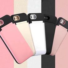 [MD208] ★ iPhone 6 / 6s / 6Plus / 6sPlus / 7 / 7Plus / 8 / 8Plus / X ★ シェルカバー ケース 鏡  スタンド カード収納 シンプル