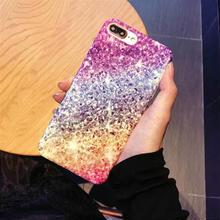 [MD106]  ★ iPhone 6 / 6s / 6Plus / 6sPlus / 7 / 7Plus / 8 / 8Plus ★ シェルカバー ケース 虹色 きらきら 可愛い 綺麗