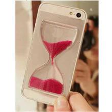 【TH069】★ iPhone 6 ★ 砂 時計 デザイン クリア ケース ( レッド ブラック パープル ゴールド ミックス ネイビー グリーン ブルー ホワイト ) おしゃれ かわいい 動く