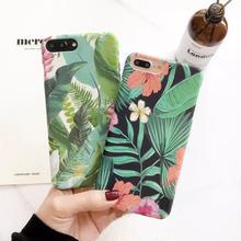 [KS081] ★ iPhone 6 / 6Plus / 7 / 7Plus ★ シェル型 ケース トロピカル フラワー アート アフリカ ボタニカル 花 植物 自然 美しい