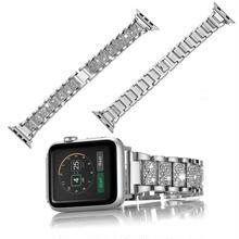[NW593] ★Apple Watch belt 38mm/42mm ★ アップルウォッチ 替えベルト バンド スクエア ブロック きらきら ラインストーン