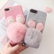 [MD138] ★ iPhone 6 / 6s / 6Plus / 6sPlus / 7 / 7Plus / 8 / 8Plus / X ★ シェルカバー ケース ファー マウス 可愛い ふわふわ