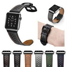 [NW598] ★Apple Watch belt 38mm/42mm ★ アップルウォッチ 替えベルト バンド 本革 パンチング バイカラー 高級