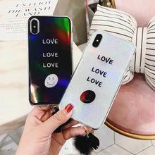 [MD091] ★ iPhone 6 / 6s / 6Plus / 6sPlus / 7 / 7Plus / 8 / 8Plus / X ★  シェルカバー ケース ラメ 可愛い にこちゃん