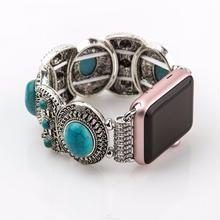 [NW509] ★Apple Watch belt 38mm/42mm ★ ターコイズ ジュエリー ブレスレット アップルウォッチ 替えベルト バンド トルコ石