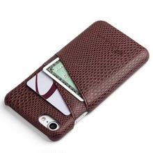 [MD151]  ★ iPhone 7 / 7Plus / 8 / 8Plus ★ シェルカバー ケース スネーク PUレザー カード収納 ビジネス オトナ