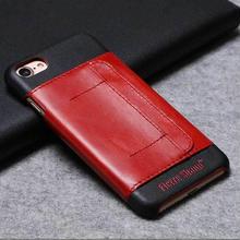 [MD148] ★ iPhone 7 / 8 ★ シェルカバー ケース 本革 カード収納 カッコイイ ワントーン バイカラー