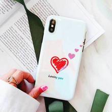 [MD410] ★ iPhone 6 / 6s / 6Plus / 6sPlus / 7 / 7Plus / 8 / 9Plus / X ★ シェルカバー ケース ハート ブルーレイ 可愛い