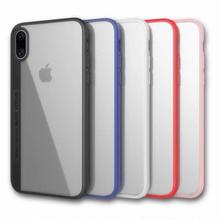 [MD200] ★ iPhone 7 / 7Plus / 8 / 8Plus / X ★ シェルカバー ケース カラー ライン シンプル クリアケース