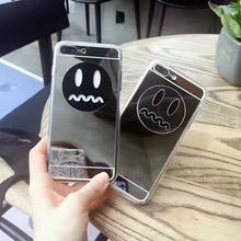 [NW097] ★ iPhone 6 / 6s / 6Plus / 6sPlus / 7 / 7Plus / 8 / 8Plus ★ シェルカバー ケース ミラー 鏡面 キュート フェイス