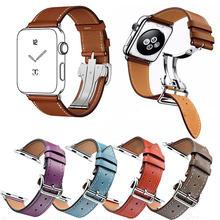[NW506] ★Apple Watch belt 38mm/42mm ★ カラーレザー 本革  アップルウォッチ 替えベルト バンド バックル付 男女兼用 シンプル