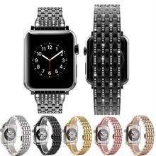 [NW589] ★Apple Watch belt 38mm/42mm ★ アップルウォッチ 替えベルト バンド クリスタル ラインストーン ラグジュアリー