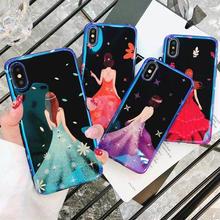 [MD409] ★ iPhone 6 / 6s / 6Plus / 6sPlus / 7 / 7Plus / 8 / 8Plus / X ★ シェルカバー ケース ドレス 女性 お洒落 綺麗