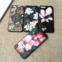 [NW153]  ★ iPhone 6 / 6s / 6Plus / 6sPlus / 7 / 7Plus ★ シェルカバー ケース フラワー ボタニカル 柄 南国 花 ハンド ベルト