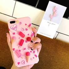 [MD427] ★ iPhone 6 / 6s / 6Plus / 6sPlus / 7 / 7Plus / 8 / 8Plus ★ シェルカバー ケース ピンク アイス 可愛い