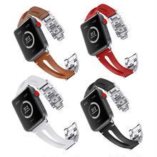[NW594] ★Apple Watch belt 38mm/42mm ★ アップルウォッチ 替えベルト バンド 本革 ステンレス ブレスレット カラーレザー