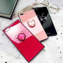 [MD422] ★ iPhone 6 / 6s / 6Plus / 6sPlus / 7 / 7Plus / 8 / 8Plus / X ★ シェルカバー ケース くま リング シンプル
