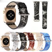 [NW507] ★Apple Watch belt 38mm/42mm ★ 大理石 マーブル柄 アップルウォッチ 替えベルト バンド クール 男女兼用