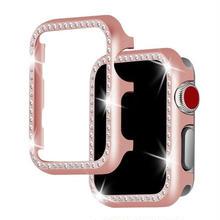 [NW587] ★Apple Watch Bumper Case 38mm/42mm ★ アップルウォッチ バンパー ケース きらきら ライン ストーン 大人