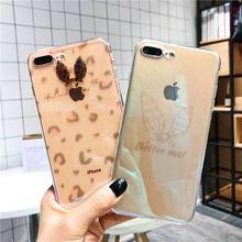 [MD421] ★ iPhone 6 / 6s / 6Plus / 6sPlus / 7 / 7Plus / 8 / 8Plus / X ★ シェルカバー ケース アニマル バニー クリア