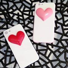 [NW288] ★ iPhone 6 / 6s / 6Plus / 6sPlus / 7 / 7Plus ★ シェルカバー ケース ハート 立体 ホワイト バイカラー ピンク レッド