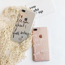 [NW173]  ★ iPhone 6 / 6s / 6Plus / 6sPlus / 7 / 7Plus ★ シェルカバー ケース メッセージ 英語 サイン スマイル クリア iPhone ケース