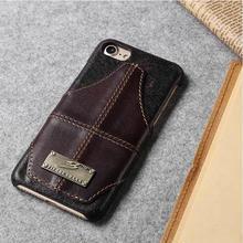 [MD147] ★ iPhone 7 / 8  ★ シェルカバー ケース ヴィンテージ風 本革 カード収納 カッコイイ
