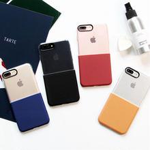 [NW162]  ★  iPhone 6 / 6s / 6Plus / 6sPlus / 7 / 7Plus ★ シェルカバー ケース バイカラー クリア シンプル iPhone ケース
