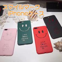 [NW051] ★ iPhone 6 / 6Plus / 7 / 7Plus / 8 / 8Plus ★シェルカバー ケース スマイル  NICE ステンシル