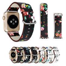 [NW503] ★Apple Watch belt 38mm/42mm ★ 花柄 アンティーク アップルウォッチ 替えベルト バンド フラワー 女性 レディース