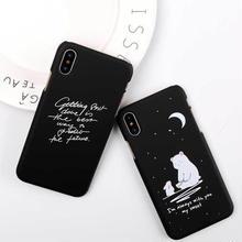 [MD344] ★ iPhone 6 / 6s / 6Plus / 6sPlus / 7 / 7Plus / 8 / 8Plus / X ★ シェルカバー ケース クマ ウサギ メッセージ 癒し