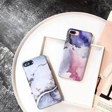 [MD252] ★ iPhone 6 / 6s /6Plus / 6sPlus / 7 / 7Plus / 8 / 8Plus / X ★ シェルカバー ケース 水彩画風 シック パステル