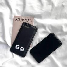 [MD075] ★ iPhone 6 / 6s / 6Plus / 6sPlus / 7 / 7Plus / 8 / 8Plus / X ★ シェルカバー ケース かお ブラック シンプル
