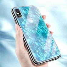 [MD420] ★ iPhone X ★ シェルカバー ケース ブルー 耐衝撃 綺麗 クール 可愛い ビジネス シンプル