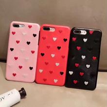 [NW090] ★iPhone 6 / 6s / 6Plus / 6sPlus / 7 / 7Plus / 8 / 8Plus ★  シェルカバー ケース レザー調 ぷち ハート パターン