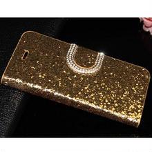 【TH085】★ iPhone 6 ★ ゴージャス きらきら 手帳 型 ケース ( ゴールド ピンク マゼンタ ブラック シルバー ) おしゃれ かわいい キラキラ 上品 ライン ストーン