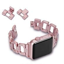 [NW596] ★Apple Watch belt 38mm/42mm ★ アップルウォッチ 替えベルト バンド チェーン D きらきら ブレスレット メタル
